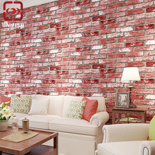 UniFish Vintage 3D Effect Natural Realistic Bricks Stone Brick Tile Vinyl Wallpaper Home Wall Decor DIY Dining-room Background
