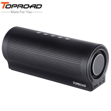 TOPROAD Wireless Bluetooth Speaker Shocking Bass Column Speakers caixa de som portatil altavoz Support TF AUX Hands-free Call(China)