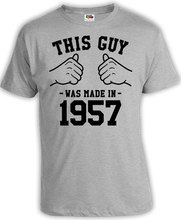 60th Birthday Gift Ideas For Him Funny Birthday T Shirt Bday Shirt T-Shirt This Guy Was Made In 1957 Birthday Mens Tee-A510(China)