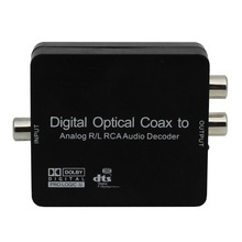 digital optical coax to analog R/L RCA audio decoder, Digital to Analog Decoder Support Dolby DTS D2A ,dts audio decoder