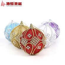 8cm Christmas Tree Decorations Ball Bead Chain Ball Baubles Xmas Party Wedding Hanging Ornament Christmas Decoration Supplies