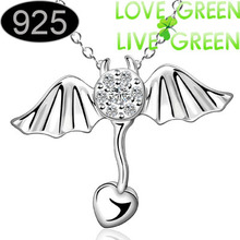 the italy woman floating float Necklace Pendant silver platedround flower charm Fashion Jewelry party gift summer  686