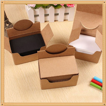 Blank Kraft Paper Card Business Message Word Classic Retro Style Shop Gift Thanks Tag 100pcs/box 9z-cx136-3(China)