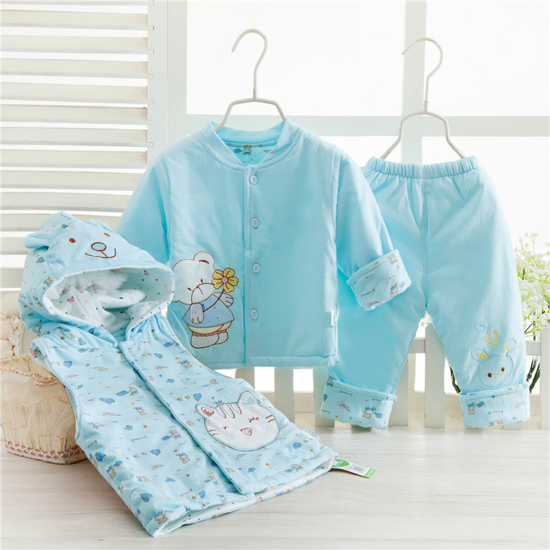 1suit 2017 baby cotton-padded clothes three-piece suit Three children cartoon ma3 jia3 cotton suit aTST0231<br><br>Aliexpress