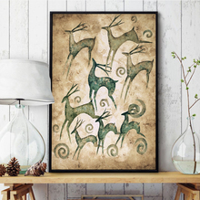 Retro Fashionable Art HD Make A Fortune Deer Canvas Print Poster Room Decoration Painting Picture No Frame