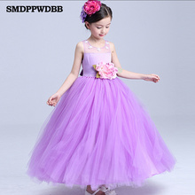 SMDPPWDBB Wedding Party Purple Formal Flowers Girl Dress Pageant Dresses Birthday Cummunion Toddler Kids evening gowns Custom(China)