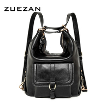 Day Pack Multi-using Fashion HOBO Women Genuine Leather Shoulder bag 100% Natural Cowhide Handbag girl ladies Wholesale B385