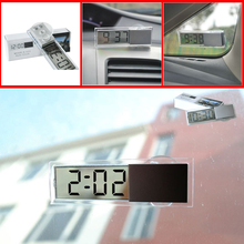 TOP Quality Car Electronic Clock Mini Durable Transparent LCD Display Digital with Sucker