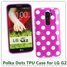1PCS Soft TPU Polka Dots Candy Wave Back Skin Pouch Case for LG G2 D802 High Quality Cellphone Bags Free