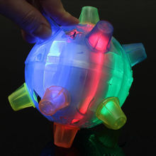 Led Dancing Ball Flashing Light Jumping Music Bouncing Balls Toys for Kids Children Random Color Delievery