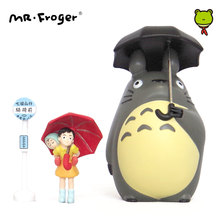 Mr.Froger Studio Ghibli Totoro Toy Set Miyazaki Hayao Umbrella Japanese Anime Action Figures Miniature Figurines Chibi Animal