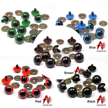 14mm 20Pairs Environmental Protection Material Plastic Safety Eyes For Teddy Bear Stuffed Toys Animal Dolls Many Colour(China)