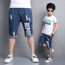 Denim Shorts for Boys Summer Trousers for Children Knee Length Pants Kids Jeans Pants for Boys Bottoms 4 6 8 9 11 14 Years Pants