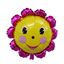 2pcs/lot Giant colorful sunflower balloons Wedding birthday party supplies kids smile face balloon baby shower party decorations