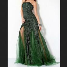2017 New Sexy Evening Dresses Fashion See Through Leg Bride Gown Mermaid Ball Prom Party Homecoming/Graduation Formal Dress