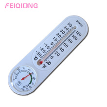 Indoor or Outdoor Vertical Thermometer and Hygrometer Classic with Pointer