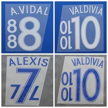New Chile A.VIDAL VALDIVIA ALEXIS football number name font print, Hot stamping Soccer patches badges