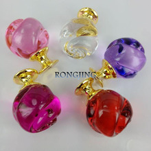 5pcs 30mm K9 Rose Crystal Cabinet Drawer Knobs Glass Dresser Cabinet Pulls Crystal Cupboard Handles Closet Shoes Box Bars Pulls(China)