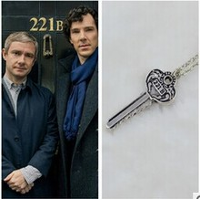 Fashion Jewelry Vintage Charm The Key to 221B A Sherlock Necklace,original factory supply
