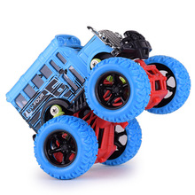 NEW sale 4x4 monster truck bus antique alloy car models inertia toys for kids Birthday festival gift(China)