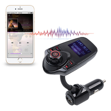 High Qulity Bluetooth MP3 Audio Player FM Transmitter Wireless FM Modulator Car Kit HandsFree USB Car charger Support SD Card(China)