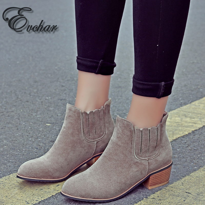 New Fashion Autumn winter Concise sexy  fashion womens ankle boots black brown women Med heels martin boots size 33-43<br><br>Aliexpress
