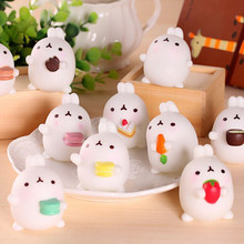 Lovely Mini Animal Cute Mochi Squishy Cat Fun Kid Toy Gift Mobile Phone Pendant Decor Mobile Phone Straps P0.11