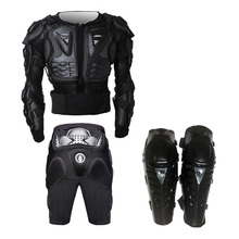 Motorcycle Racing Full Body Armor Spine Chest Mtb Raptor Cycling Protective Jacket Gear+Gears Short Pant+Protective Knee Pads
