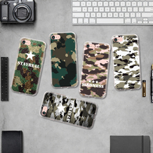 Cool Man Military Camouflague Pattern TPU Phone Case for Iphone 4 4S 5 5S SE 5C 6 6S 6 6S Plus 7 7Plus Silicone Case Soft Shell