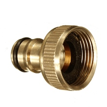 "Water Pipe Connector Tube Tap Adaptor 3/4"" Male Brass Threaded Hose Fitting For Garden Watering Tools(China)"