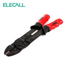 ELECALL FS-051 Hot Sale Wire Stripper Cutter Terminal Crimper Automatic Crimping Striping Tool - Red
