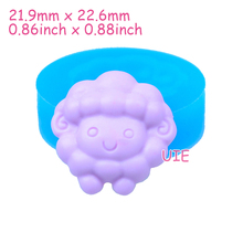 DYL017U 22.6mm Sheep Silicone Push Mold - Farm Animal Mold Jewelry Fondant Cupcake Topper, Scrapbooking, Resin Polymer Clay Mold
