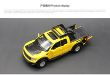 1pc 17cm Alloy toy car model ford F150 pickup back in car audio and video toy cars gifts