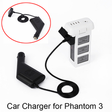 Buy Car Charger DJI Phantom 3 Drone Battery Portable Outdoor Fast Charging Charger Spare Parts 3A 3P SE 3S for $6.49 in AliExpress store