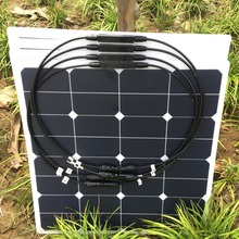 flexible solar panel 200W=50W 4PCS semi flexible solar panel; sunpower solar cell monocrystalline; 12V or 24V battery charger