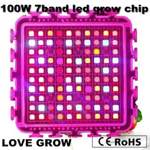 Revolution!! DIY grow kit 100w 7 band led grow light chip indoor growth and flowering , Epileds 2 years warranty  free shipping