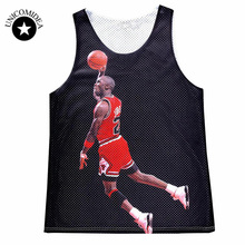 2017 Brand Clothing Men's Summer Tanks Tops 3D Graphic Print Jordan Stylish Jersey Summer Vest Sleeveless Tops Tees Men Shirt(China)