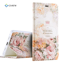 Gview Luxury PU Leather 3D Relief Printing Stereo Feeling Smart Flip Cover Case For Xiaomi Mi5 / Mi 5 Pro Stand Phone Bag Fundas(China)