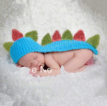 Photo Props Soft Adorable Hand-woven Dinosaur Cute Newborn Crochet Baby Clothes Baby Photo photography Props Outfits    5SY38