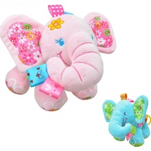 2Style Baby toys Musical Soft Elephant Bed Baby Carriage Bells Infant Appease Toys Baby Rattles Mobiles(China)
