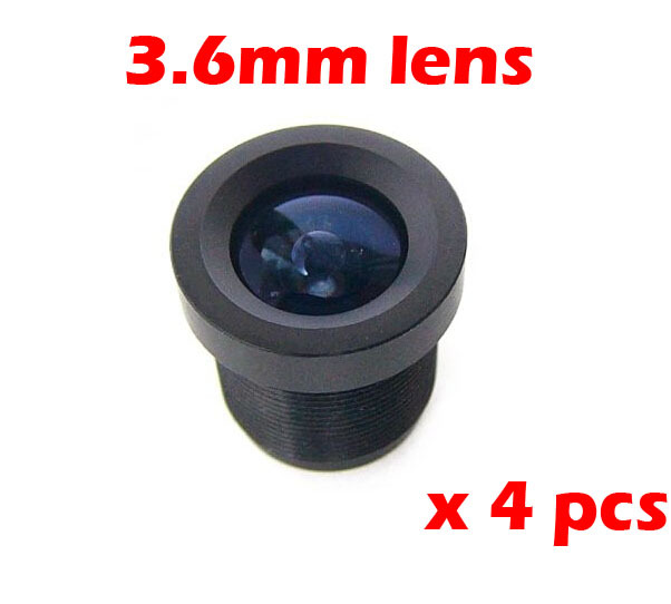 4 pcs 3.6mm 92 Degree Wide Angle CCTV Camera IR Board Lens for 1/3 and 1/4 CCD<br><br>Aliexpress