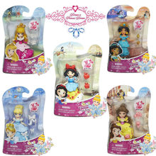 Original Princess snow white belle Cindirella Jasmine Little Kingdom Collection toy Classic Mini Doll figure