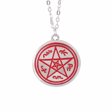 Supernatural necklace Dean pentagram Pentacle Rune silver pendant movie jewelry for men and women wholesale