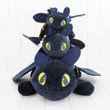 3pcs/lot 23CM 43CM 55CM How To Train Your Drago Plush Doll 3 stly Night Fury Stuffed Toy free shipping(China)