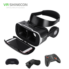 VR SHINECON 3D Box 4.0 Virtual Reality Glasses Vr Box Headset Realidade Virtual With Gamepad For 4.0-6 inch Android Phone