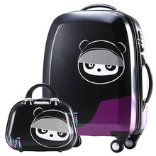 "New Cute little bear Travel Suitcase Women Cartoon Animation Luggage ABS+PC Aircraft Wheels Trolley Luggage Bag 20"" 24"""