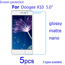 "5pcs Screen Protector shield HD Clear/matte/Nano Explosion Proof Guard Protective Films cover for Doogee X10 5.0"" SmartPhone LCD"