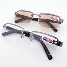 New Rimless classic style glass lenses Reading Glasses Plain mirror Men women Unisex Eyewear 1.0 1.5 2.0 2.5 3.0 3.5 4.0(China)