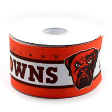 75mm Grosgrain Ribbon Rugby Football Browns Printed Ribbon Handmade Sports Webbing 50 Yards MD150917-25-2130(China)