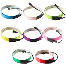1m*10-15mm 3V battery case Flexible Neon Light Glow LED Neon tape EL Wire Rope Cable Strip  Lights Shoes Clothing Car waterproof